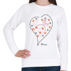 PRINTFASHION Sziv1 - Női pulóver - Fehér