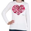PRINTFASHION Szív - Női hosszú ujjú póló - Fehér