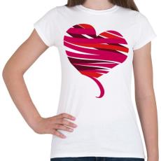 PRINTFASHION Szív szalag - Női póló - Fehér