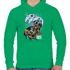 PRINTFASHION Szörfmánia - Férfi kapucnis pulóver - Zöld