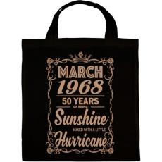 PRINTFASHION Születésnap - Napfény egy kis hurrikánnal! - Vászontáska - Fekete