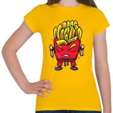 PRINTFASHION Szuper krumpli - Női póló - Sárga