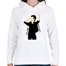 PRINTFASHION Taka - Női kapucnis pulóver - Fehér