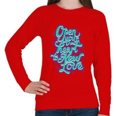 PRINTFASHION Tárd ki a szíved - Női pulóver - Piros