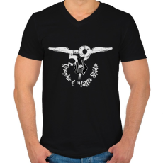 PRINTFASHION tattoologo2 - Férfi V-nyakú póló - Fekete