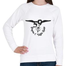 PRINTFASHION tattoologo - Női pulóver - Fehér