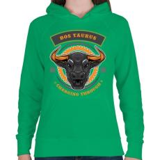 PRINTFASHION Taurus - Női kapucnis pulóver - Zöld