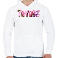 PRINTFASHION Tavasz - Férfi kapucnis pulóver - Fehér