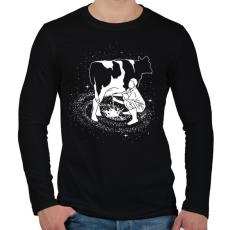 PRINTFASHION Tejút - Férfi hosszú ujjú póló - Fekete