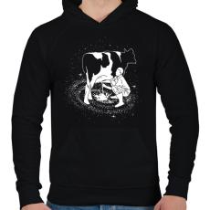 PRINTFASHION Tejút - Férfi kapucnis pulóver - Fekete
