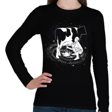 PRINTFASHION Tejút - Női hosszú ujjú póló - Fekete