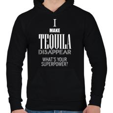 PRINTFASHION Tequila disappear - Férfi kapucnis pulóver - Fekete