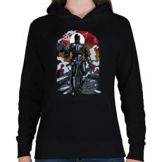 PRINTFASHION Terminátor - Női kapucnis pulóver - Fekete