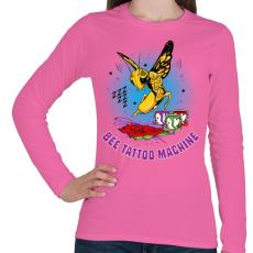 PRINTFASHION Tetováló gép - Női hosszú ujjú póló - Rózsaszín