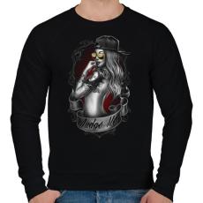 PRINTFASHION Tetovált lány - Férfi pulóver - Fekete
