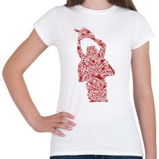 PRINTFASHION Texasi láncfűrészes - Női póló - Fehér