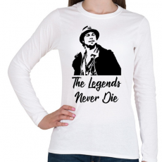 PRINTFASHION The Legends Never Die - Mickey O'Neill - Női hosszú ujjú póló - Fehér