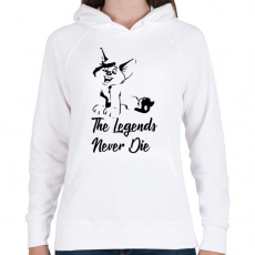 PRINTFASHION The Legends Never Die - Vuk - Női kapucnis pulóver - Fehér
