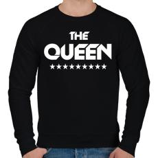 PRINTFASHION The Queen - Férfi pulóver - Fekete