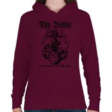 PRINTFASHION The Rebis - Női kapucnis pulóver - Bordó