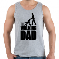 PRINTFASHION The Walking Dad - Férfi atléta - Sport szürke