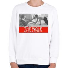 PRINTFASHION The wolf of wall street  - Gyerek pulóver - Fehér