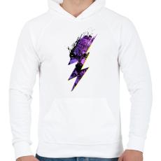 PRINTFASHION Thunderwolf - Férfi kapucnis pulóver - Fehér