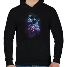 PRINTFASHION Tigriscsapás - Férfi kapucnis pulóver - Fekete
