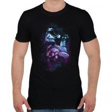 PRINTFASHION Tigriscsapás - Férfi póló - Fekete