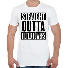 PRINTFASHION Tilted Towers - Férfi póló - Fehér