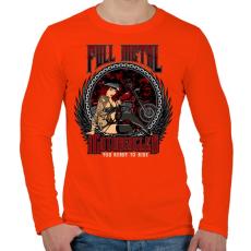 PRINTFASHION Tiszta vas - Férfi hosszú ujjú póló - Narancs