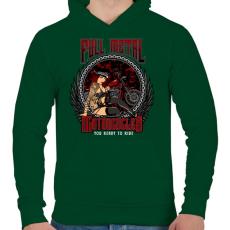 PRINTFASHION Tiszta vas - Férfi kapucnis pulóver - Sötétzöld