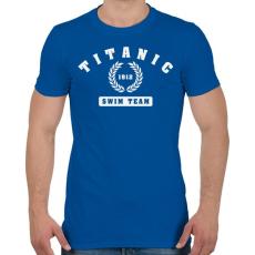 PRINTFASHION titanic-swim-team-white - Férfi póló - Királykék