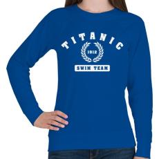 PRINTFASHION titanic-swim-team-white - Női pulóver - Királykék
