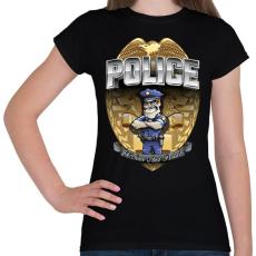 PRINTFASHION To serve and protect - Női póló - Fekete