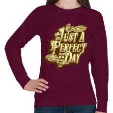PRINTFASHION Tökéletes nap - Női pulóver - Bordó