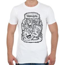 PRINTFASHION Tökfej - Férfi póló - Fehér
