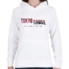 PRINTFASHION Tokyo ghoul - Női kapucnis pulóver - Fehér