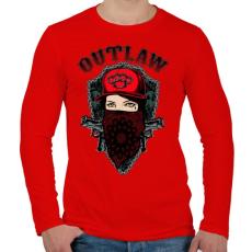 PRINTFASHION Törvényen kívüli - Férfi hosszú ujjú póló - Piros