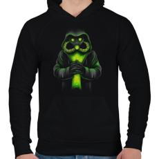 PRINTFASHION Toxicitás - Férfi kapucnis pulóver - Fekete