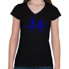 PRINTFASHION Toy Story - Női V-nyakú póló - Fekete