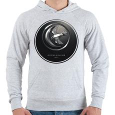 PRINTFASHION Trónok harca: Arryn ház - Férfi kapucnis pulóver - Sport szürke