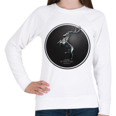 PRINTFASHION Trónok harca: Baratheon ház - Női pulóver - Fehér