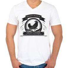PRINTFASHION Trónok harca  - Férfi V-nyakú póló - Fehér