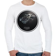PRINTFASHION Trónok harca: Stark ház - Férfi hosszú ujjú póló - Fehér