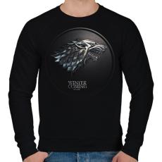 PRINTFASHION Trónok harca: Stark ház - Férfi pulóver - Fekete
