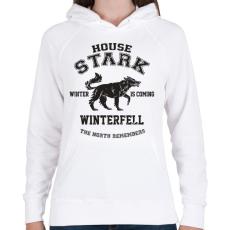 PRINTFASHION Trónok harca: Stark house - Női kapucnis pulóver - Fehér