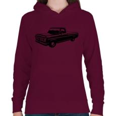 PRINTFASHION Truck - Női kapucnis pulóver - Bordó