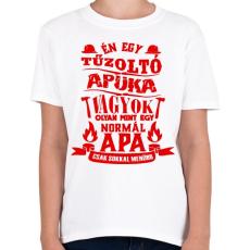 PRINTFASHION Tűzoltó Apuka - Gyerek póló - Fehér