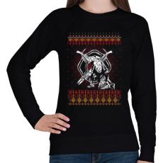 PRINTFASHION Tűzoltó karácsony - Női pulóver - Fekete